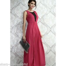 ☆ BNWT NEW Ladies Pink/Black Long Backless Maxi Party Dress UK 8-10 EU 36-38 ☆