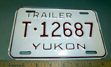 Yukon territory Canada Trailer  License plate, NEW! hard to find item! T-12687