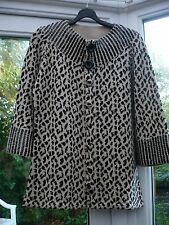 STORYBOOK KNITS LEOPARD PRINT CARDIGAN / JACKET sz S - 40in CHEST BNEW