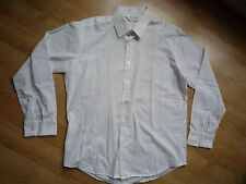 Men's White smart casual shirt, Jason, England, long sleeves, size 16.5 / 42