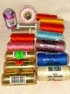 Estate Lot of Vintage Purr-fect Punch Embroidery Yarn Thread + Machine Thread