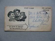 NETHERLANDS INDIES, fieldpost card RAF post 1945, cigarette donation, tobacco