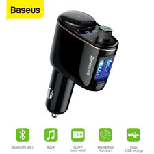 Baseus Handsfree Wireless Bluetooth Car Kit FM Transmitter Car USB Charge