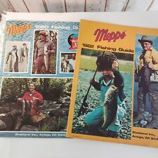 Vintage 2 Original 1980 1982 Mepps Fisherman's Guides Sales Brochure