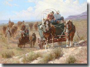 """Plenty of Horse Power"" Wayne Baize Limited Edition 32"" Giclee Canvas"