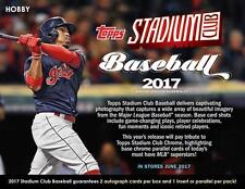 2017 Topps Stadium Club Baseball - PICK YOUR CARD - COMPLETE YOUR SET 1-300 RC +