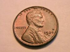 1924-D Ch R&B Uncirculated Scarce Original Lincoln Wheat One Cent Penny US Coin