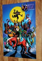 2000 Nintendo 64 The Legend of Zelda Majora's Mask / Pokemon Poster 44x30cm