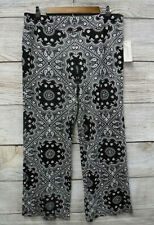John Paul Richaard Pants Womens Size PL Black & White Stretch Casual Pants New