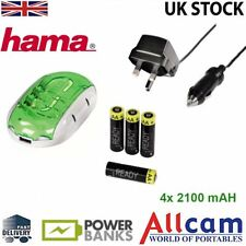 Hama Delta Plus Smart Charger w/ 4x AA NiMh Rechargeable Batteries & Power Bank