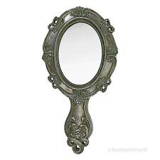 Jugendstil Handspiegel Schminkspiegel Frisierspiegel Makeup Spiegel Silber Antik
