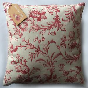 Vintage/Shabby Chic Laura Ashley Ironwork Scroll Cranberry fabric Cushion Cover