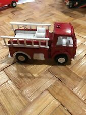 """1970 Tootsietoy 4"""" Red Fire Truck with removable double ladder's #1 USA (Rare)"""