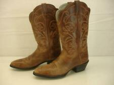 Women's 7.5 B M  Ariat Heritage Western Round Toe Boots Brown Distressed Leather