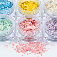 6 Colors nails Powder Acrylic Slice Crushed Shell Fragments Nail art Decoration