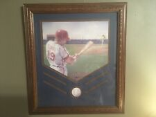 Home Interiors Matted Picture Of Baseball Player & Ball