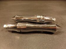 HARLEY DAVIDSON V TWIN CHROME PIRATE SPIKE FOOT PEGS FOOTPEGS