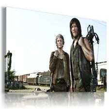THE WALKING DEAD  ZOMBIE CAROL DARYL Canvas Wall Art Picture WD7 MATAGA .