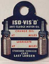 "ISO VIS ""O"" Anti-Sludge Motor Oil Change Reminder Tag Paper Key FOB Advertising"