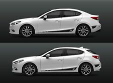 GT Stripe Mazda 3 2014 2015 2016 2017 set of 4  Hard Wearing Vinyl film NEW
