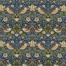 William Morris Strawberry Thief Heavy Weight Floral Cotton Fabric by Half Metre