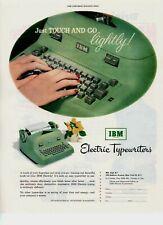 1952 ORIGINAL VINTAGE IBM ELECTRIC TYPEWRITER MAGAZINE AD