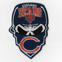 Chicago Bears Iron on Patches Embroidered Patch Badge Applique Sew Skull Mask FN