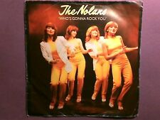 """The Nolans - Who's Gonna Rock You (7"""" single) picture sleeve EPC 9325"""