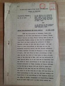 Singapore document meter revenue 1953 fiscal