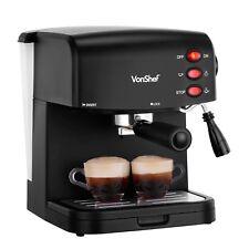 VonShef Espresso Coffee Machine Maker 15 Bar Cappuccino Latte Barista 850W