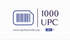 1000 UPC Numbers Barcodes Bar Code Gs1 Amazon Lifetime Guarantee ,