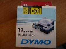 Original Dymo 45808 19mm  Schriftband Schwarz auf Gelb