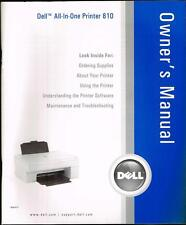 Owner's Manual: Dell  All-In-One Printer 810 P/N DG010 USED *** FREE SHIPPING **