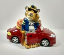 Fitz And Floyd Boys Toys Coin Bank Tiger Cat in Car Sports Golf Rainy Day Funds