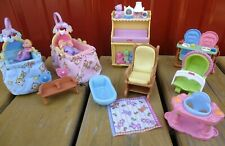 Fisher Price Loving Family Furniture Twins Nursery Musical Baby Changing Table