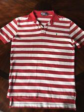 Ralph Lauren Polo Shirt Men's Size Small, Shirt Sleeve, red & white
