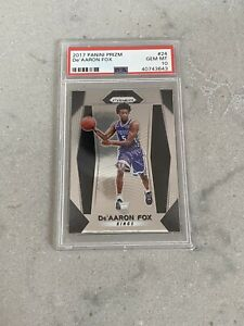 De'aaron Fox 2017-18 Panini Prizm Rookie Card PSA 10 (#24) RC - READ