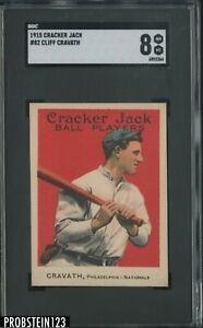 "1915 CRACKER JACK #82 CLIFF ""GAVVY"" CRAVATH PHILLIES SGC 8"