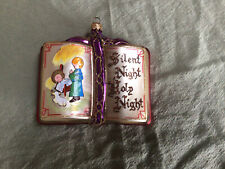 Kurt Adler Polonaise Bible Silent Night Ornament