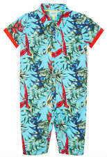 Baby Boys Ted Baker Hawaii Print Holiday Romper Bodysuit Designer 0-3 Months