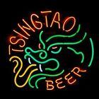 "New Tsingtao Beer Dragon Neon Sign Lamp Beer Bar Pub Gift Light 17""x14"""