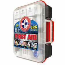 d7f90a87d7cb Emergency First Aid Kit 326 Piece OSHA   ANSI Approved Expedited -