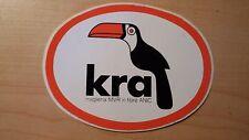 Adesivo Sticker KRA (tucano)  maglieria MVR in fibra anic  cm 12 x 9 circa