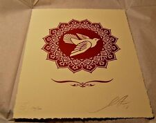 Shepard Fairey Peace Dove Obey Giant Letterpress Signed Numbered 2013