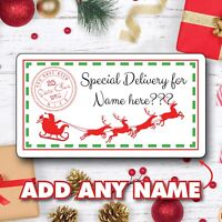 48 Personalised Christmas From Santa Present Stickers Labels Gift Bag Tags 1074