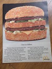 1978 McDonald's Ad Big Mac 1 in a Billion 1978 Revlon Ad Lipstick Forst Formula