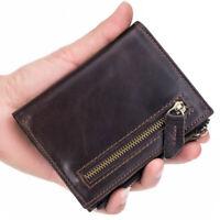 Mens Wallet RFID Genuine Leather Bifold Wallet For Men Card Holders Elegant Gift