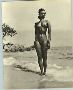 1955 John Everard Asian Perak Malay Malaysian Nude Female Breasts Photo Gravure