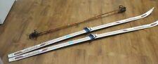 "Rossignol ""Cheyenne"" Cross Country Skis 205 cm, 145cm bamboo poles"