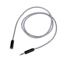 Black 3.5mm Male to Female Stereo Audio Headphone Extention Cable Cord